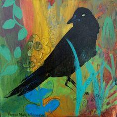 Edgar like Poe Black Crow has eye on you with by RobinMariaPedrero, 19.99