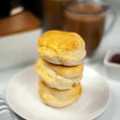 These Air Fryer Biscuits are a quick, homemade alternative to the store-bought version. They are so easy but taste so good, they really elevate any dish, so make them for breakfast, lunch, or dinner. This is one of my all-time favorite air fryer recipes. Air Fryer Biscuits, especially the buttermilk are my favorite bread to serve hot from the oven. They are great for on-the-go breakfast sandwiches, a side for soup, or even a quick slider sandwich. This is an easy homemade alternative to refriger