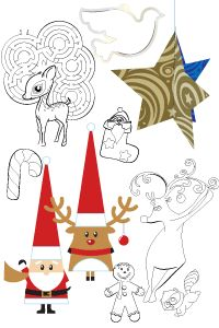 free christmas coloring pages activity sheets maze from dixie crystals