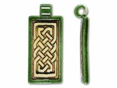 Clay River Designs Rectangle Celtic Knot Pendant