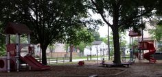 Lafayette Park in Bellaire, Texas.  The equipment is a little old, but it has shade, a little soccer field and a digger!