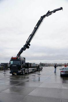 Scania zwaar auto kraan