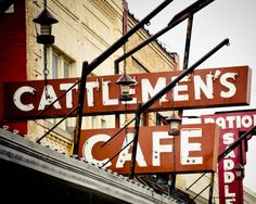 Neon Sign Oklahoma City Stockyards Downtown Retro - Cattlemen's Steakhouse - 8x10 Luster Finish. $30.00, via Etsy.