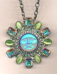 Behind the Curtain Seaview Moon Pin Pendant http://kirksfollystore.com/necklaces/
