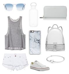 """""""Can't wait till Summer"""" by r3b3ccaxx ❤ liked on Polyvore featuring One Teaspoon, Oliver Peoples, bkr, Converse, Zero Gravity, Pandora, MICHAEL Michael Kors and L.K.Bennett"""