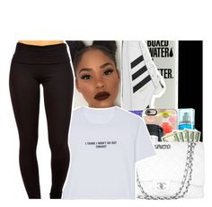 """""""AllWhiteContest(Old;edited)☺"""" by purplequeen04 ❤ liked on Polyvore featuring adidas and WithChic"""