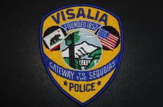 Visalia Police Patch, Tulare County, California (Current 1996 Issue)