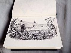 Old farm (stabilo pen)