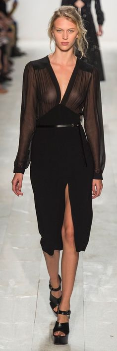 michael kors s/s 14 new york. Needs a fucking bra, unless you want to look like a hoe. Idc about the fashion crap that is just entirely unclassy