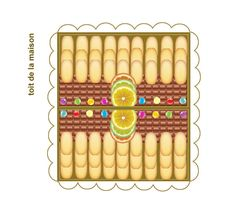 Gingerbread house printable (roof)