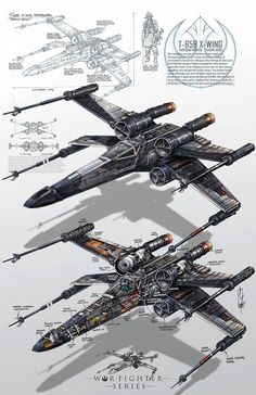 Super cool and detailed X-Wing fighter art from the Star Wars movies. Star Wars Fan Art, Star Wars Film, Star Wars Poster, Maquette Star Wars, Tableau Star Wars, Images Star Wars, Nave Star Wars, Star Wars Spaceships, X Wing Fighter