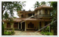 House in Kerala. Kerala Homes, Indian Homes, Kerala House Design, States Of India, Villa Design, Good House, Project 3, India Travel, Beautiful Beaches