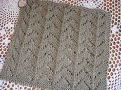 snippets and stash: Taupe Lace; the pattern. I need to make this pattern in a big throw for the family room
