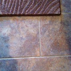 Grouted laminate flooring! Looks just like tile!!