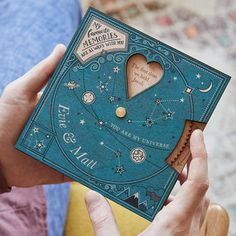 'Written In The Stars' Couple's Planisphere by No Ordinary Gift, the perfect gift for Explore more unique gifts in our curated marketplace. Valentine Special, Valentine Day Gifts, Valentines, Diy Birthday, Birthday Cards, Birthday Gifts, Diy And Crafts, Paper Crafts, Buying Your First Home