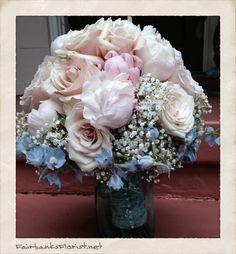 Bridal bouquet design by Lana, FairbanksFlorist.net