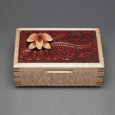 "mark doolittle studio | ... Wood Jewelry Box ""Orchid"" by Mark Doolittle Studio | CustomMade.com"