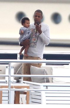 Jay-Z With Daughter Blue