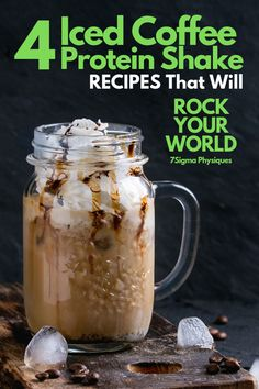 Best Light Breakfast For Weight Loss #SpeedUpMetabolism Iced Coffee Protein Shake Recipe, Vanilla Protein Shakes, Chocolate Protein Shakes, Protein Powder Coffee, Healthy Iced Coffee, Protein Powder Recipes, Protein Shake Recipes, Smoothie Recipes, Protein Shake Weight Loss