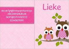 Lettertype voor op uw geboortekaartje: Gosmick Sans. Maak uw geboortekaartje via www.geboortepost.nl.