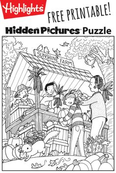 Download this festive fall free printable Hidden Pictures puzzle to share with your kids!