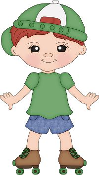 LITTLE BOY ON SKATES CLIP ART