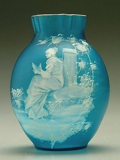 Mary Gregory style vase,