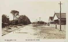 The main road, Rye, c. It's changed a bit since then. State Library of Victoria Image Melbourne Victoria, Victoria Australia, Time In Australia, Melbourne Suburbs, Australian Continent, Old Photos, Vintage Photos, Largest Countries, Small Island