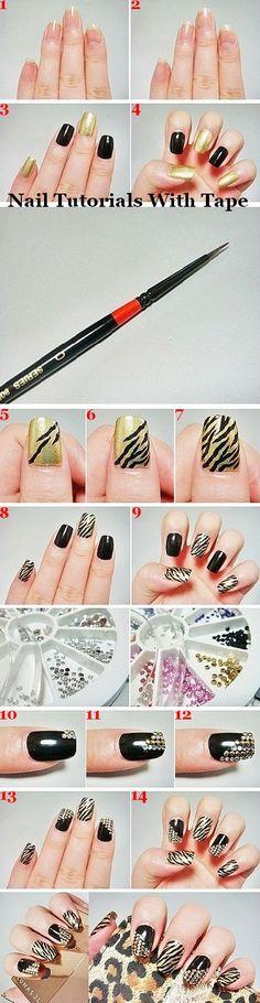 Nail tutorials with tips.