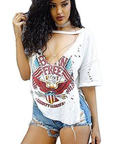 FELACIA Womens Shirts T-Shirt Short SleeveTop Causal