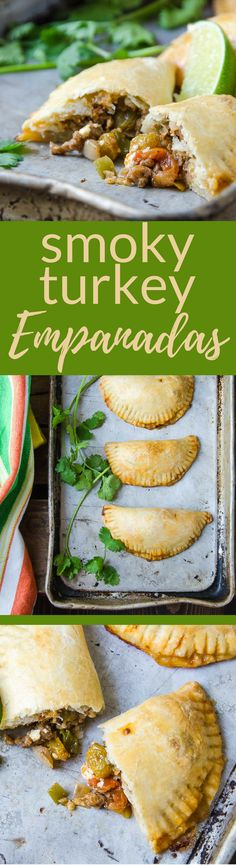This Smoky Turkey Empanadas recipe is a great hand-held snack, perfect for tailgating.  Make your own pastry or buy prepared empanada crusts in the freezer section. #empanada #handpie #meatpie #turkey #superbowlsnacks #tailgatingfood #tailgatingsnacks #groundturkey #pastry #empanadasrecipe #empanadarecipe #