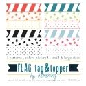 flag tags- print on sticker paper to make your own washi tape. $4.99