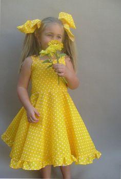 Best 11 Yellow polka dot dress, Cute girls dress, Toddler twirl dress, Girls party dress, Little girl sun dr Girls Dresses Sewing, Cute Girl Dresses, Girls Party Dress, Little Girl Dresses, Polka Dot Summer Dresses, Yellow Dress Summer, Baby Girl Dress Patterns, Baby Dress, Dot Dress