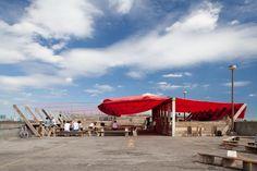 Frank's Café, a temporary rooftop pavilion in Peckham, south-east London