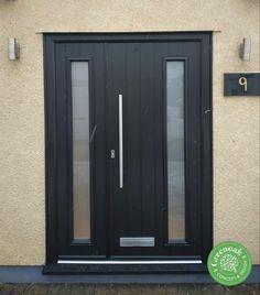 Anthracite Grey french door set. Southend-on-Sea Essex Upvc Windows, Sash Windows, Windows And Doors, External Cladding, Window Glazing, Window Replacement, Composite Door, Door Sets, Exterior Trim