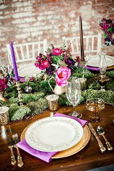 Sophisticated Elegance with Pink and Purple and Gold