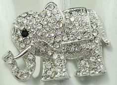 Rhinestone Elephant Ring/Statement Ring/Gift For Her/Zoo