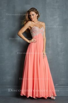 $165 A-line Chiffon Sweetheart Mint Prom Dress