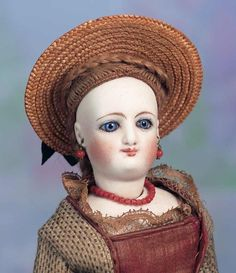 Images: 143 Petite French Bisque Smiling Deposed Poupee by Leon Casimir Bru
