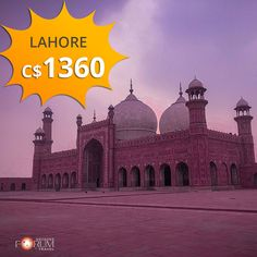 Grab your tickets from Montreal to Lahore at cheap flight deals. Cheap Flight Deals, Best Flight Deals, Cheap Flights And Hotels, Best Flights, Hagia Sophia, Flight And Hotel, And So The Adventure Begins, Famous Places, Vacation Trips