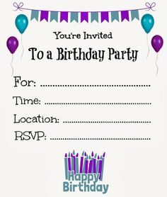 Make Birthday Invitations Online Free Printable Cards