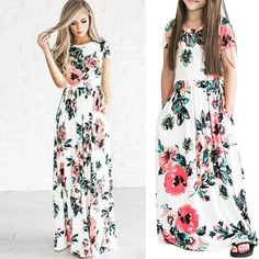 Mom and daughter summer dresses – Fabulous Bargains Galore Maxi Dresses, Strapless Dress, Summer Dresses, Ladies Day Dresses, Girls Dresses, 8 Year Old Girl, Holiday Wear, Every Girl, Girl Outfits
