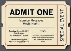 Yw movie night... This also works for just a family as well.  Great idea with a popcorn bar and smoothies!