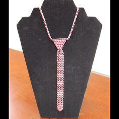 Ruby Red Crystal Tie Necklace Ruby Red Tie Necklace Jewelry Necklaces