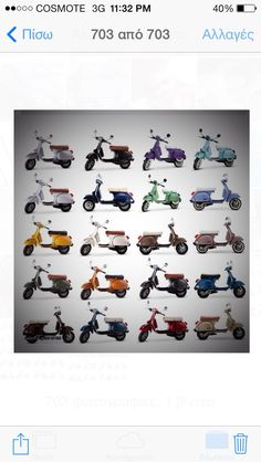 Choose your colour Vespa Models, Scooter Drawing, Lml Star, Retro Scooter, Classic Cars, Motorcycle, Stars, My Style, Scooters