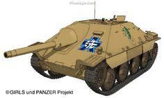 Hetzer - Girls und Panzer Wiki - Wikia Anime Military, Military Art, Japan Fashion, India Fashion, War Thunder, Tank Destroyer, Ww2 Tanks, Kendall Jenner Outfits, High School Girls