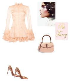"""""""Be Fancy-Dreamy dress"""" by zabead ❤ liked on Polyvore featuring Francesco Scognamiglio, Christian Louboutin, Gucci and dreamydresses"""