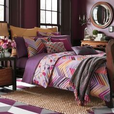 Collier Campbell Ziggurat Duvet Cover features a multi colored ...