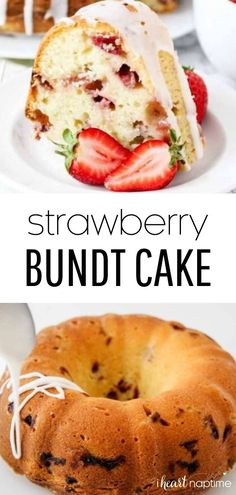 Perfectly moist and soft sour cream cake filled with fresh strawberries. Then topped with a sweet lemon glaze to make the ultimate summer cake recipe!