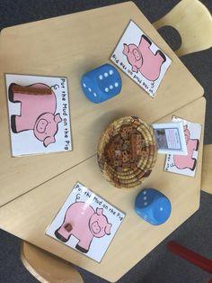 Pig Continuous Provision Preschool Centers, Kindergarten Fun, Preschool Classroom, Preschool Crafts, Farm Lessons, Early Years Maths, Farm Unit, Farm Activities, Three Little Pigs